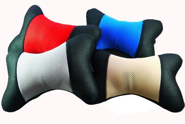 超透氣 骨頭 舒適頭枕 汽車靠枕 舒適頭枕 三明治網布 透氣材質 護頸 靠枕 護腰 填補縫隙 墊高