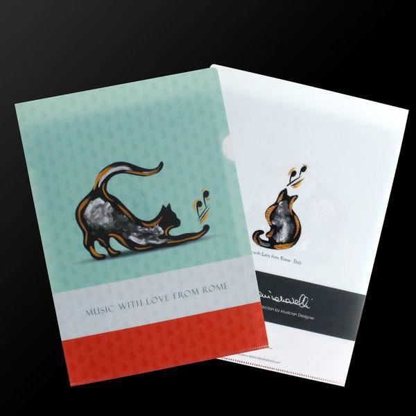 【小叮噹的店】全新 香港 MD FD0003 L夾 文件夾 MD品牌 全新 音樂貓 香港進口 精品 D3