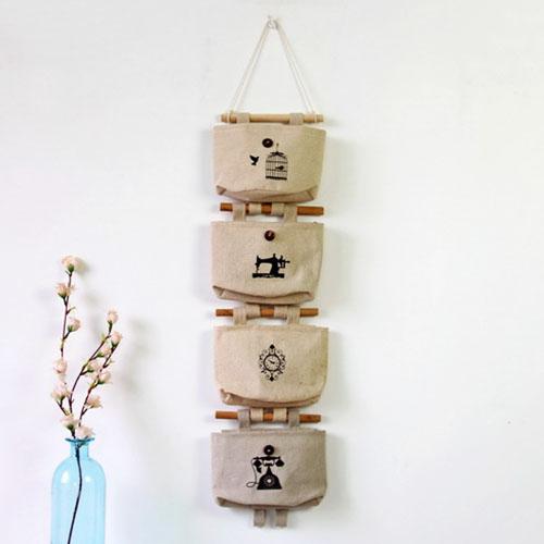 壁掛袋 多層收納袋 置物袋  16*16.5*7【ZA0064】 BOBI  09/14