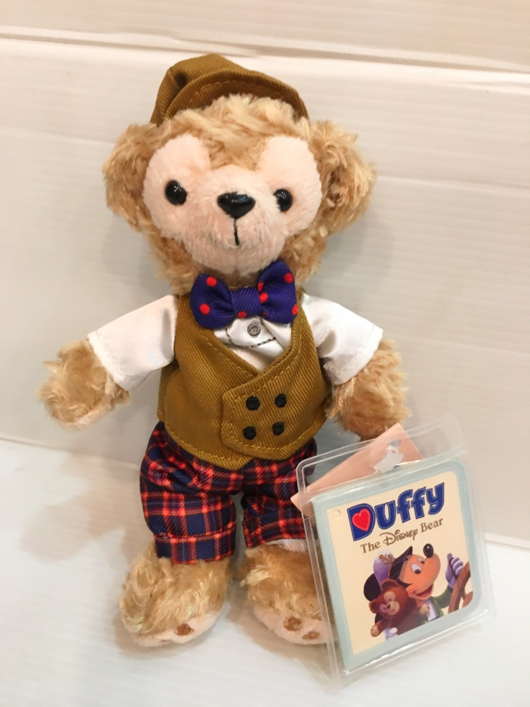 京之物語香港迪士尼帶回正品達菲熊Duffy紳士款吊飾鑰匙圈現貨