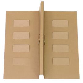 《荷包袋》8吋乳酪蛋糕盒-內襯T字隔板-牛皮 10入/包