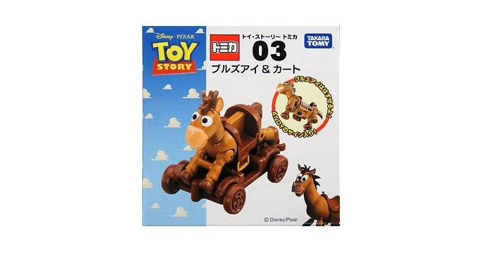 TOMICA玩具總動員NO.03紅心&木製推車