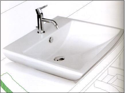 麗室衛浴洗臉盆義大利原裝WHITE STONE方形檯面盆60*53數量剩1