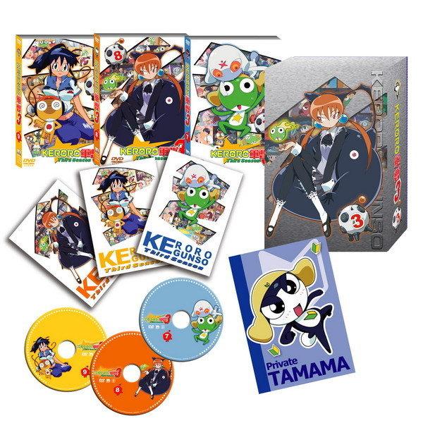 【出清下殺2折】KERORO軍曹 第3部 BOX3(7-9) DVD