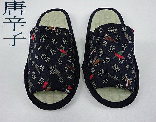 藺草商品-室內鞋寬板日式藺草鞋~全長尺寸28.5CM~背部止滑