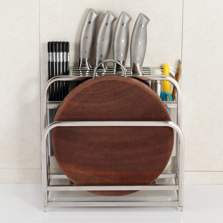 刀架-不銹鋼刀架廚房用品砧板菜刀架菜板刀具架子刀座置物架收納架大咖玩家