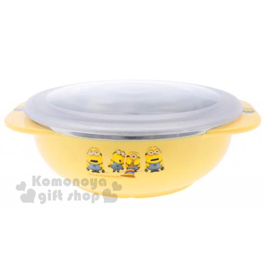 小禮堂小小兵附蓋雙耳不鏽鋼碗大.黃不鏽鋼隔熱設計8809327-68845