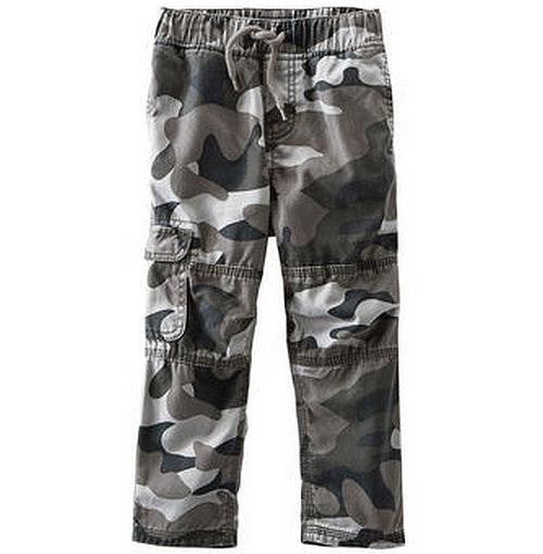 Carter's OshKosh B'gosh美國童裝迷彩長褲運動褲灰色12M 18M
