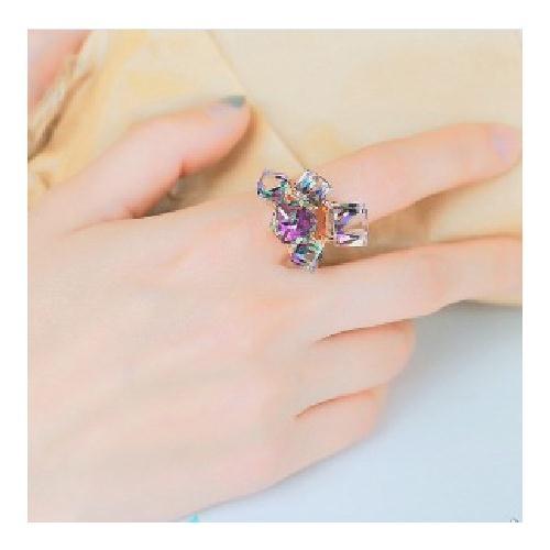 Mini style戒指飾品韓款魔幻立體方塊誇張韓版食指指環閃亮奢華高調時尚流行造型