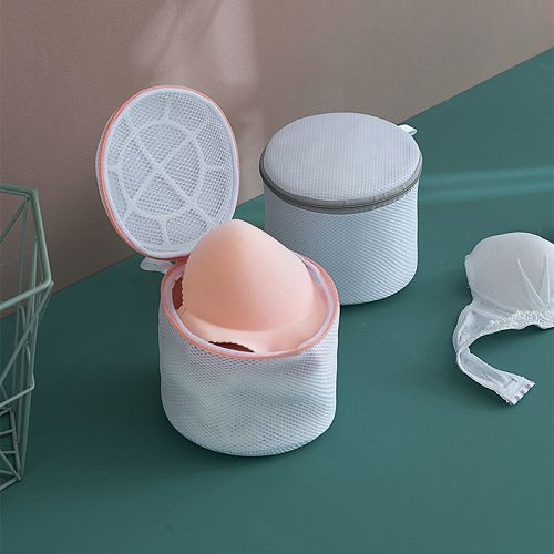 洗衣機專用內衣保護網袋(拉鍊支架款兩入) 防變形護洗袋 洗護袋
