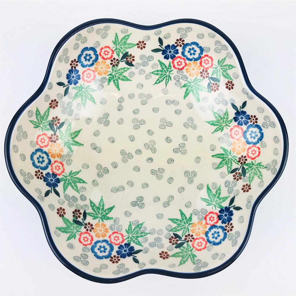 【手工波蘭陶 CA大廠】波蘭陶 20cm花朵盤 717-030-U4914
