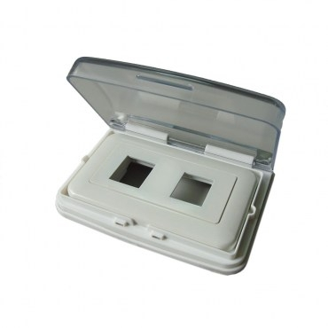 國際型開關插座雙孔防水蓋組