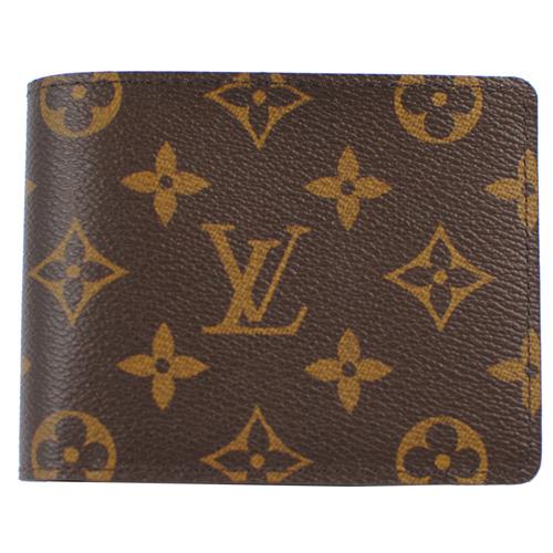 茱麗葉精品全新名牌Louis Vuitton LV M60895 Monagram經典花紋折疊短夾預購