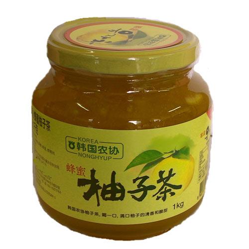 韓國農協蜂蜜柚子茶70%果肉1kg/罐【愛買】