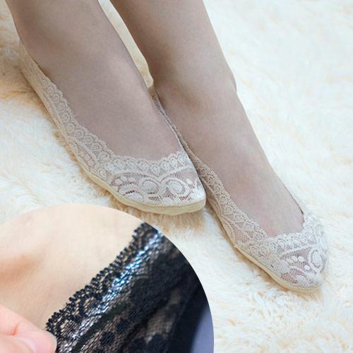 360度矽膠蕾絲隱形襪船型襪