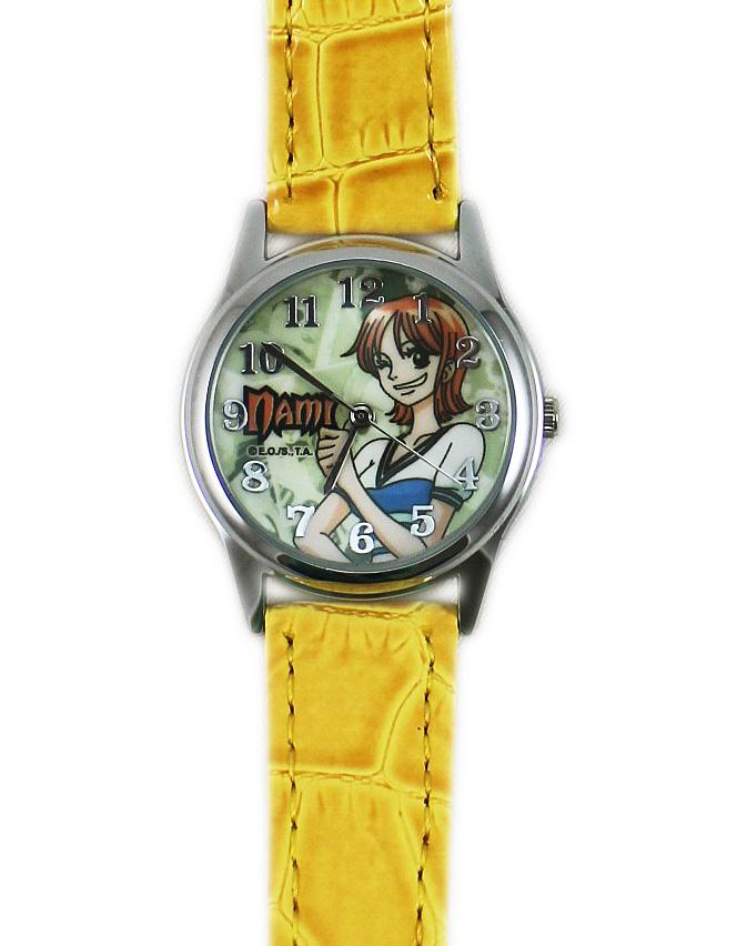 卡漫城海賊王手錶娜美版One Piece航海王Nami天候棒皮革錶女錶男錶兒童錶