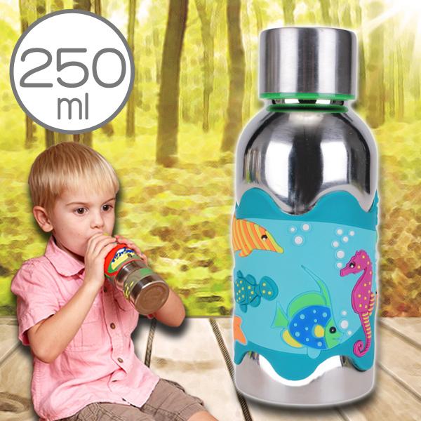 美國i.d.gear保溫兒童水壺不鏽鋼幼童水瓶水杯-熱帶悠游250CC B-2VST004