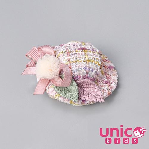 UNICO 兒童手工製精美小香風帽子全包布髮夾/髮飾