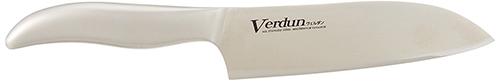 【日本代購】Verdun日本製-精工淬湅一體成型不鏽鋼刀 OVD-11 (刀刃長 165mm,廚房三德包丁)