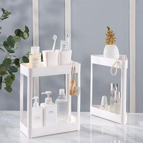 組合式雙層置物架 浴室檯面洗漱架 整理架 化妝品收納架