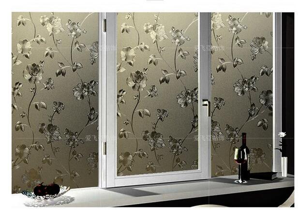 靜電玻璃貼紙浴室透光不透明窗貼紙遮光玻璃貼膜90*100CM潮咖範兒