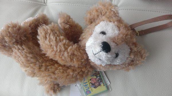 尼德斯Nydus*日本東京迪士尼海洋限定達菲熊Duffy小包零錢包玩偶吊飾