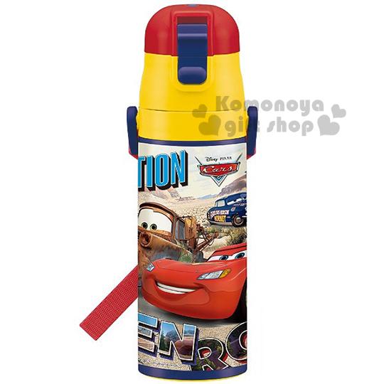〔小禮堂〕迪士尼 CARS閃電麥坤 不鏽鋼水壺《紅黃藍.朋友》保冷專用 4973307-36337