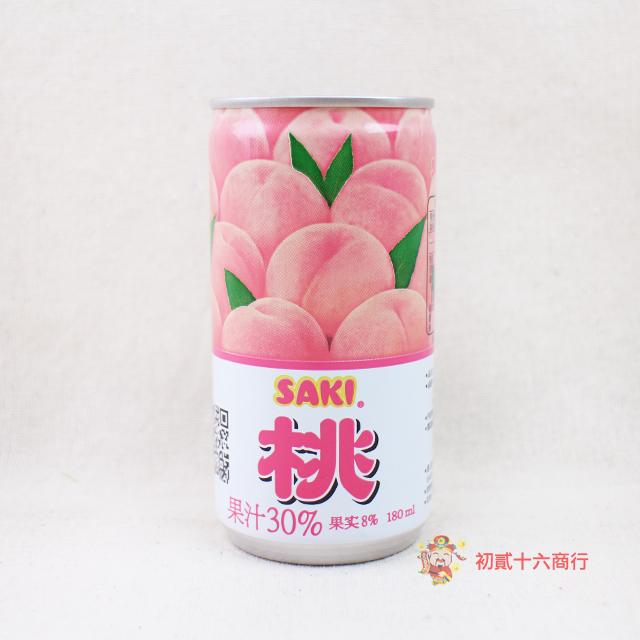 韓國果汁SAKI水蜜桃果汁180ml 0216團購會社8801105910087