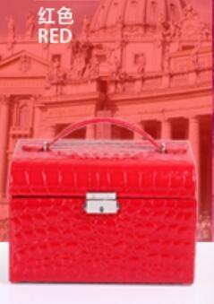 首飾盒木質公主歐式帶鎖韓國首飾收納盒飾品盒批發絨布手飾盒