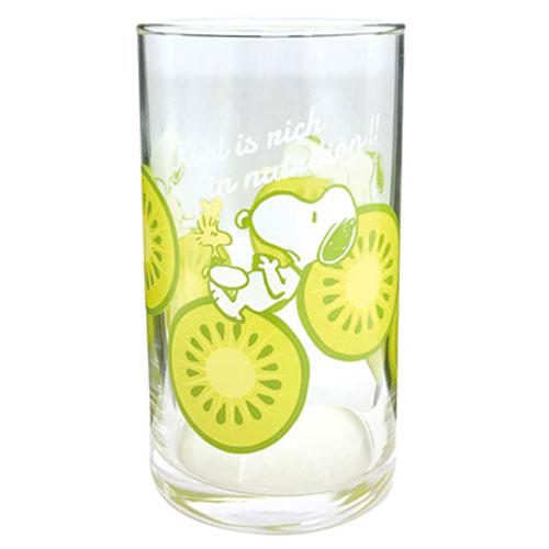 大西賢SNOOPY日本製沁涼水果圖案透明玻璃杯奇異果OS76029
