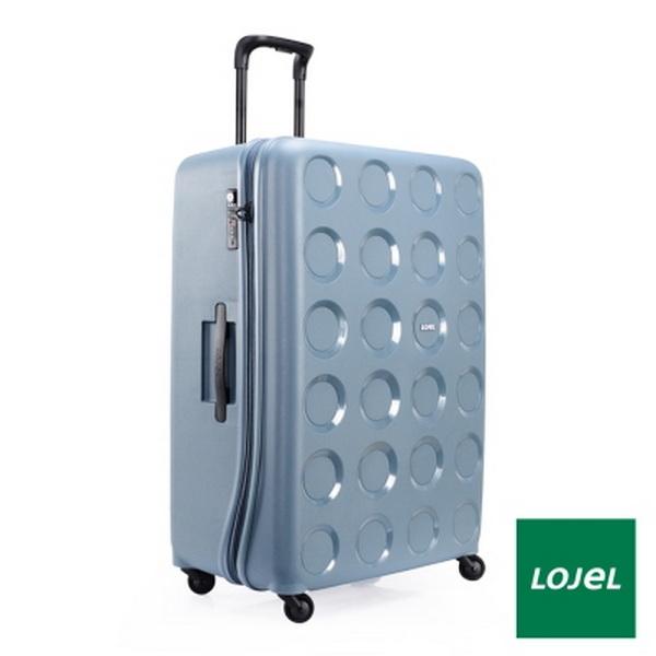 CROWN皇冠 LOJEL VITA PP材質拉鍊 超大容量 行李箱/旅行箱 31吋-鋼藍色