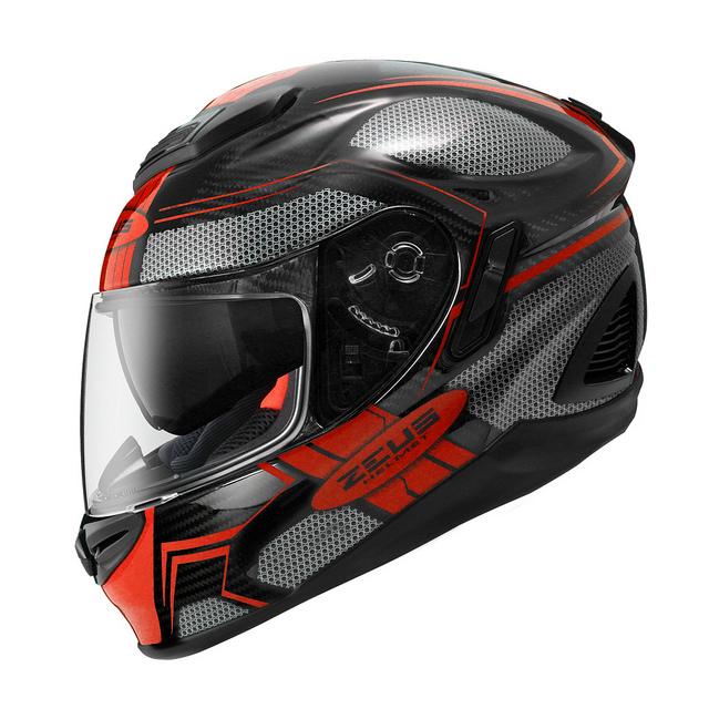ZEUS 瑞獅安全帽,ZS-1600,AK3/黑紅