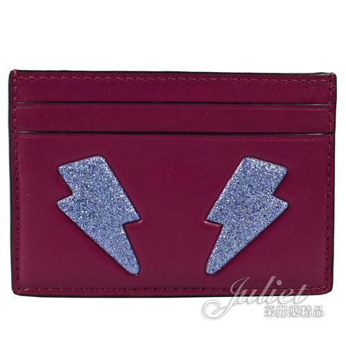 茱麗葉精品【現貨出清】COACH 23776 限量 閃電圖案信用卡名片夾.紫