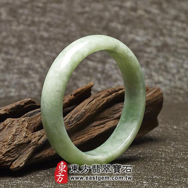 豆種手鐲豆種玉鐲豆種翡翠手鐲淺綠色玉鐲手鐲些微透光圓鐲17.5 BE001