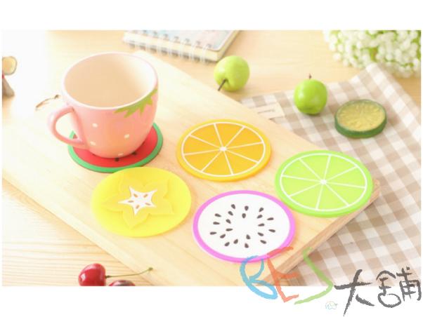 雜貨│杯墊│甜甜水果切片造型@橘子柳丁檸檬火龍果奇異果西瓜雜貨聖誕交換禮物ZAKKA