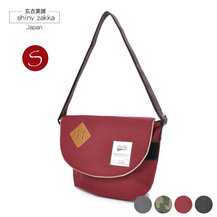 郵差包(S)-日本品牌包anello豬鼻斜背包-酒紅色-玄衣美舖