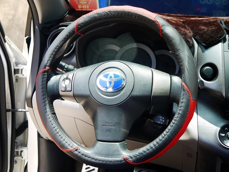 純牛皮100紅色競技版汽車方向盤套方向盤保護套舒適好握保護方向盤止滑透氣立體紋路