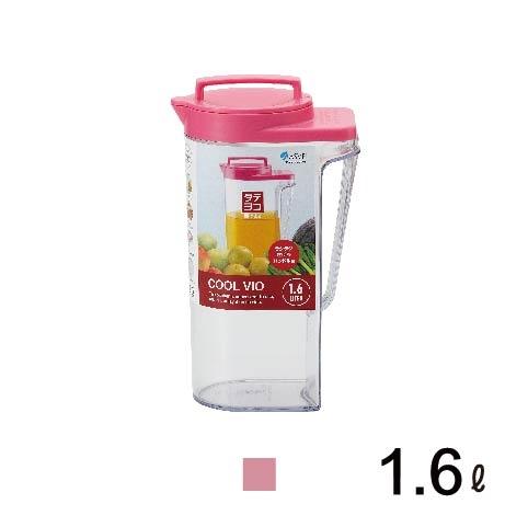 日本ASVEL-VIO冷水壺-1.6ml/ 廚房用品 夏日清涼 透明質感 防漏 果汁 咖啡 茶水 飲料
