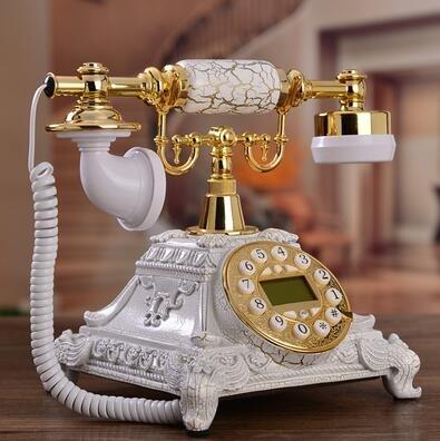 設計師美術精品館仿古電話機歐式電話機復古電話機座機電話可愛創意電話機【背光免提版】