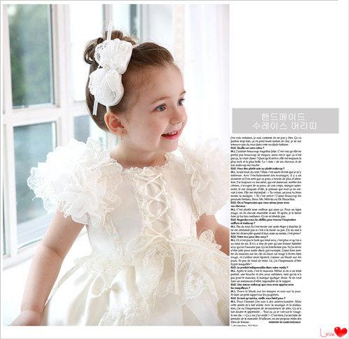 3C膜露露2014新款兒童禮服裙公主裙女童白色蓬蓬裙舞台演出服裝兒童婚紗