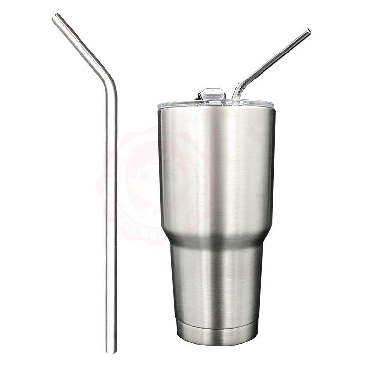 冰霸杯 900ml 專用304不鏽鋼彎口吸管(1入)【庫奇小舖】