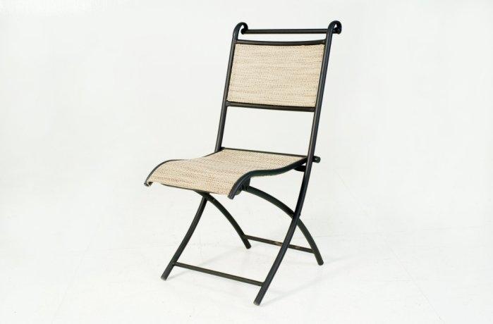 南洋風休閒傢俱餐椅系列鐵製折合紗網椅折合椅烤肉椅補助椅麻將椅S10854