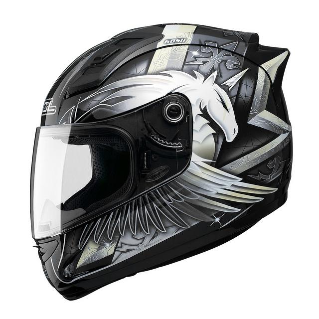 SOL 68Sll獨角獸三代全罩安全帽黑銀69S免運費加贈好禮