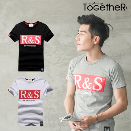 ToGetheR 【CY6235】顯眼百搭款R&S字母印花情侶短袖T恤(三色)