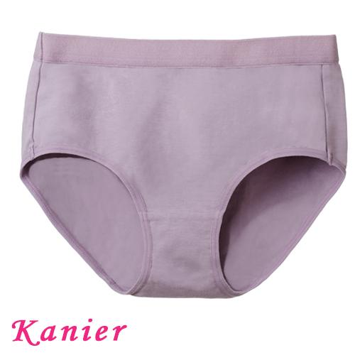 【Kanier卡妮兒】簡約輕著涼感有機棉.運動內衣配褲(黑/芋_1210)