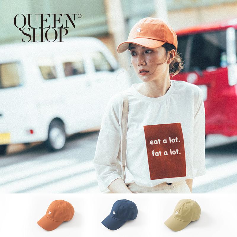 Queen Shop【07020552】刺繡M字母配色棒球帽 三色售*現+預*