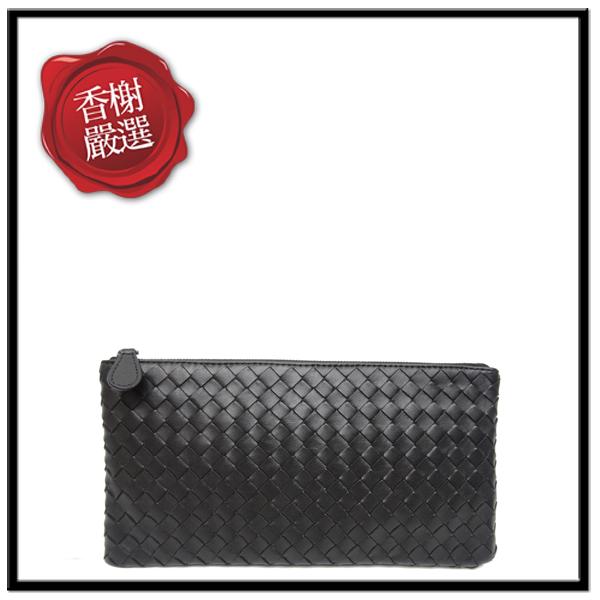 BV編織手拿包收納包小黑色簡約大方時尚圈必備256399全新商品