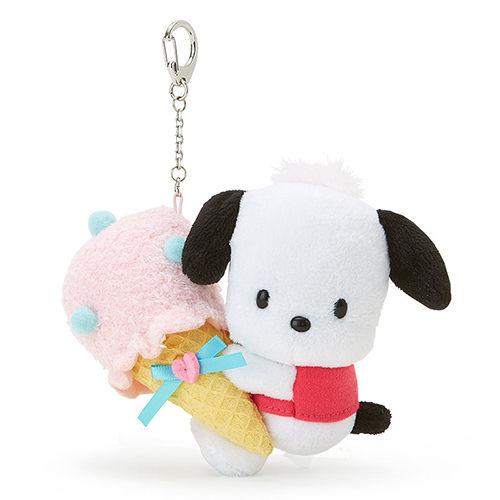 震撼精品百貨Pochacco帕帢狗~帕恰狗躍動冰淇淋系列造型玩偶鑰匙圈