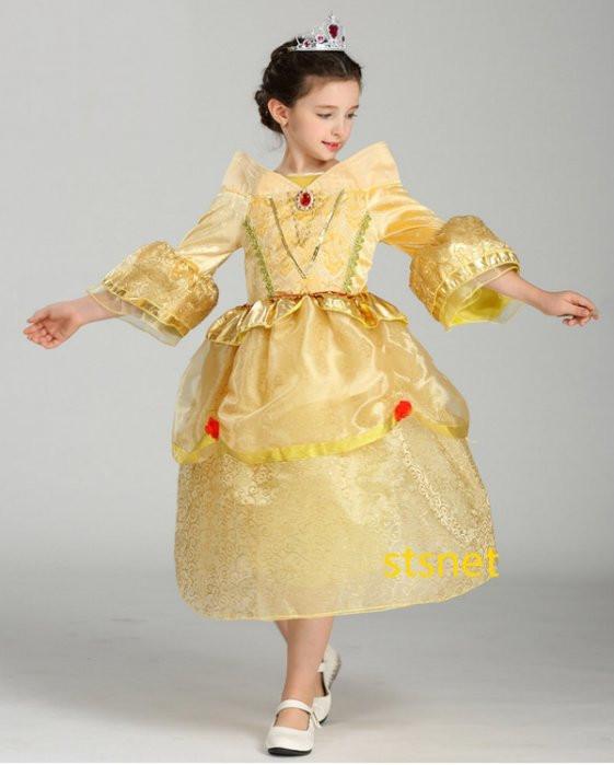 蘇菲亞公主裝金兒童造型服宮廷服公主洋裝裙子舞會角色扮演道具萬聖誕節衣服cosplay