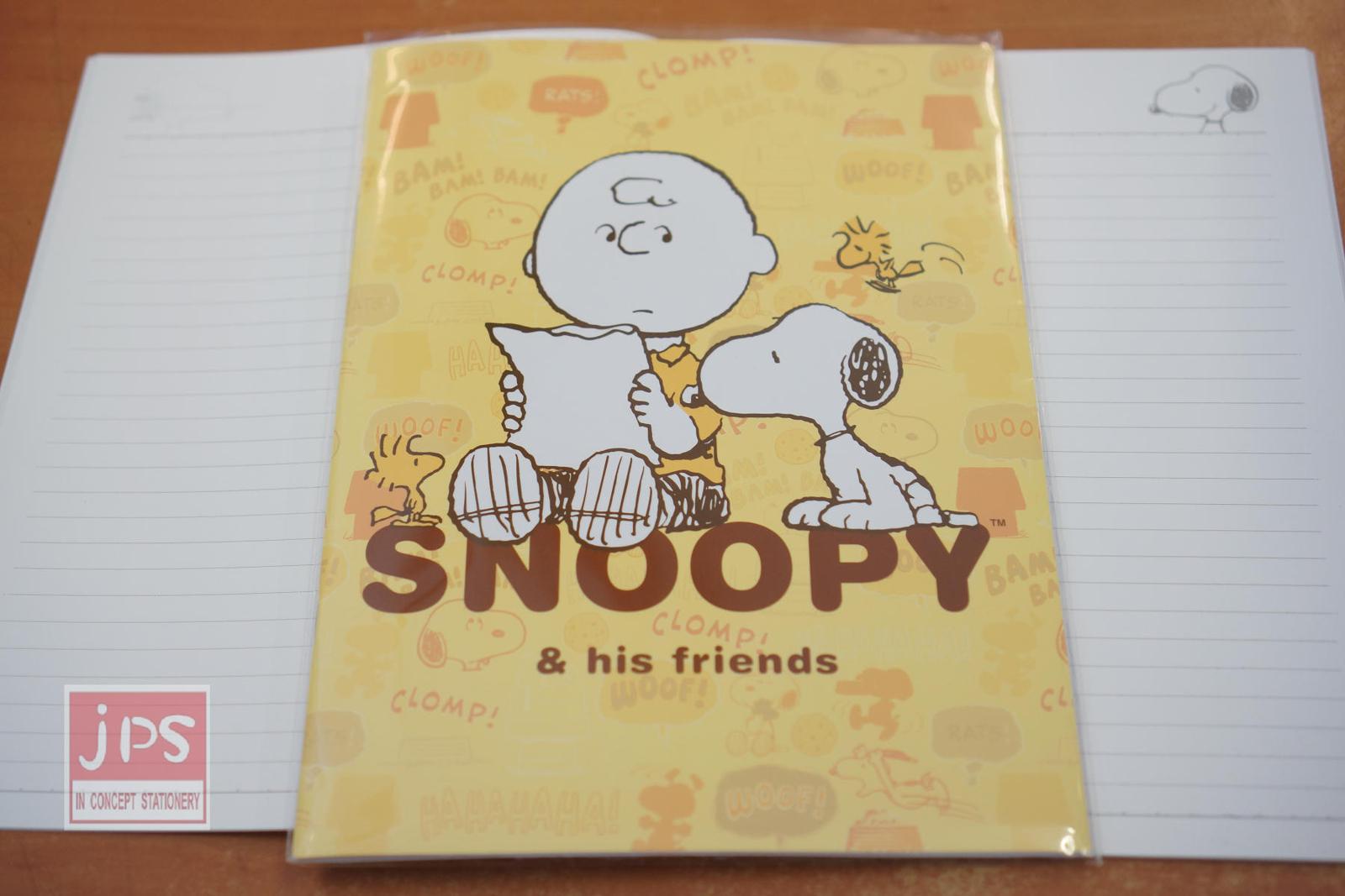 Snoopy史努比16K固頁橫線筆記本黃SN-NB34